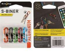 Nite Ize S-Biner MicroLock Aluminum 5 Pack Assorted double gated LSBMA-A1-5R7 **