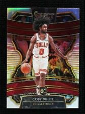 2019-20 Panini Select Concourse Silver Prizm Coby White #48 Rookie RC