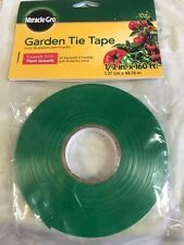"Miracle Gro Garden Tie Tape 1/2"" x 160 ft New In Pack"