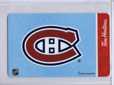 """2019 Tim Hortons Gift Card NHL Montreal Canadiens Team Logo """"NO VALUE"""""""
