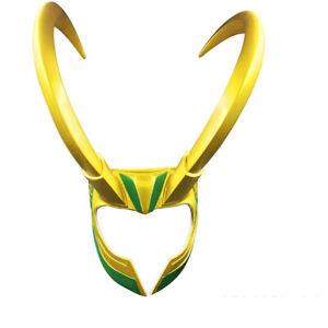 Marvel Cosplay Costume God Of Evil Loki Helmet Devil Horns Pvc Props Hat Model