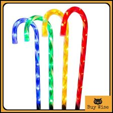 Large 62cm Christmas Candy Cane Decoration Xmas Outdoor Bright LED Lights Garden