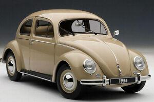 Autoart 1/18 Volkswagen VW Beetle Käfer 1200 Classic Die-Cast Model Car Beige