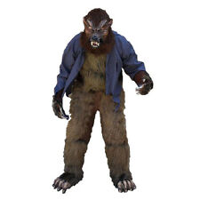 Werewolf Howl o ween Wolf Adult Halloween Costume Mask Gloves Chest Legs Feet