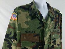 Large Long Military Woodland Camouflage Combat Jacket
