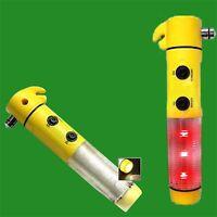 1x Car Emergency Crash Safety Tool, Window Smasher Belt Cutter LED Beacon Torch