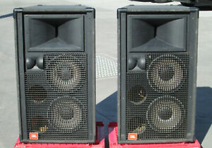 PAIR of JBL SR 4700 Series SR4732-X Three 3-Way Speakers