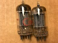 Matched Pair RCA 12AU7 Tubes 1957 Long Plate D Getter Test Good #A