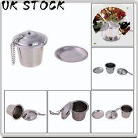 Stainless Steel Tea Infuser Loose Leaf Tea Strainer Herbal Spice Filter UK