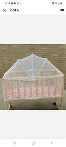TWO Portable Baby Crib Mosquito Net Multi Function Cradle Bed Canopy
