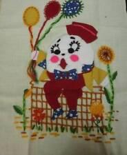 VTG Humpty Dumpty Applique Embroidery Sampler or Pillow 3D Design