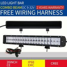 "20INCH 29400W CREE LED LIGHT BAR SPOT FLOOD BLACK OFFROAD DRIVING WORK  22"" 23"""