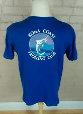 Vintage 80s Kona Coast Hawaii Fishing Sailing Surf Beach Trolling Club T Shirt