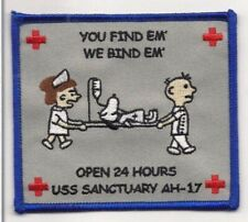 Usmc Ah-17 Uss Sanctuary Hospital Ship Patch New!