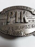 Belt Buckle Iowa Farm Agriculture 1984 PIK Limited Edition #553 Farm Buckle