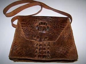 Vintage Petit Bags R/étro Alligator Peau Motif Petites Femmes Messenger Bag BG Bandouli/ère Sacs Crocodile Sac /À Bandouli/ère Femme De Sacs /À Main Jaune