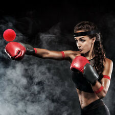 Gym Boxing Fight Red Ball with Head Band for Reflex Speed Boxer Training Punch