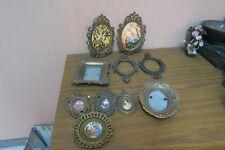 Lot of 10 Mini Vintage Italian Ornate Metal Frame