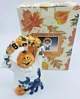 Vintage Fitz and Floyd halloween teapot, BOO Jack o lantern head ghost body 1993