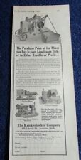 1924 ADVERTISEMENT FOR CEMENT MIXER BY THE KNICKERBOCKER COMPANY JACKSON MI