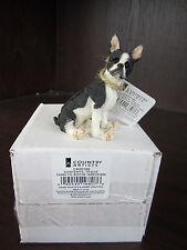 COUNTRY ARTISTS Enesco Mini  BOSTON TERRIER Dog Figurine CA00195 NEW IN BOX