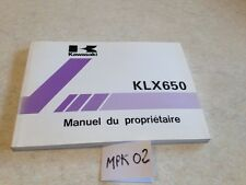 Manuel propriétaire Kawasaki KLX650 KLX 650 C3 KLX650-C3 owner's manual