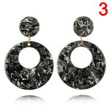 Round Acrylic Dangle Drop Earrings Geometric Ear Studs Srau