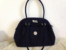 Vera Bradley Quilted Blue Navy Shoulder Bag w Closure Outside Pocket Zipper Top