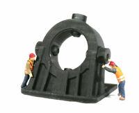 HO Scale Cast Steel Angled Bearing Model Railroad Flatcar Load Black