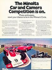 1972 1973 Minolta Alfa Romeo Spider Original Advertisement Print Art Car Ad Pe46