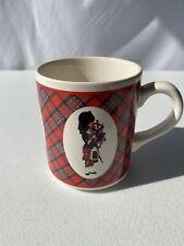 Coffee Mug Cup The Scottish Piper/Dancer Celtic Plaid. No Chips Or Cracks