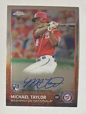 Michael Taylor 2015 Topps Chrome RC Rookie Auto Autograph Card #AR-MT