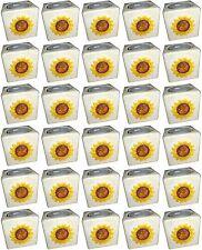 30 Stück Teelichthalter Teelicht Kerzenhalter Sonnenblume Keramik Sonderposten