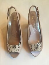 TAUPE SLING BACK/PEEP TOE - BRAND NEW, NEVER WORN