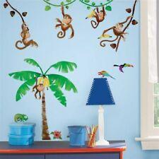 Monkey Palm Tree Wall Decal Jungle Stickers Room Dacor Kids Room dAcor 41pc