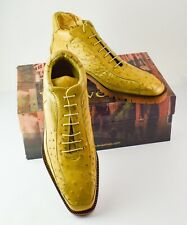 Men's Belvedere Pero Ostrich Leather Ankle Boots NIB US 10 EU 43-44 - RM4