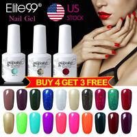 Soak Off Color Gel Nail Polish 15ML Manicure Elite99 Top Base Lacquer UV LED DIY