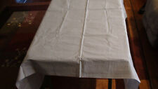 "(12) Royal 54"" X 108"" Metallic Silver 3 Ply Paper Table Cloths, Plastic Lined"