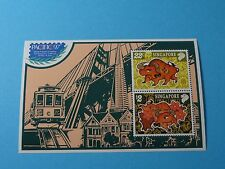 Stamps SINGAPORE * SC 775c (?) * Year of the Ox * SS of 2 * 1997 Pacific Expo