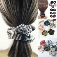 4x Lady Elastic Hair Rope Ring Tie Scrunchie Ponytail Holder Flamingos Hair Band