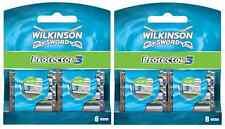 New Genuine Wilkinson Sword Mens Protector 3 Razor Blades - 16 Pack Refill