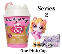 1 Pink Cup Series 2 Kitten Catfe Purrista Girls Mystery Pack Cafe Doll In Hand