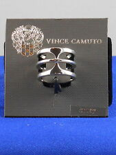 Vince Camuto Silvertone BASIC T Wide Band RIng Size 7 C900797 $28