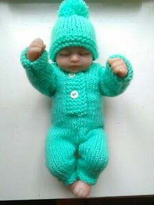 knitted dolls clothes outfit to fit 10/11 inch doll.reborn or similar.