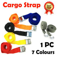 Thick Pack Cam Tie Down Strap Cargo Lash Luggage Bag Belt With Metal Buckle AU
