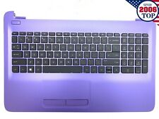 NEW HP 15-AY 15-BA 15BN Laptop PALMREST W/ KEYBOARD TOUCHPAD 901746-001 Purple