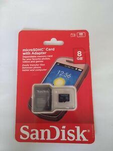 San Disk Micro SDHC card w/ Adapter 8gb