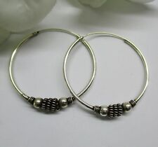 Bali Creolen Damen Silber 925 35 mm Ohrringe Gothic Keltische Ohrringe