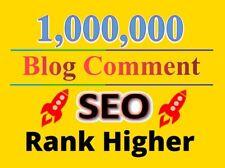 1 million / 1,000,000 blog comment backlinks for SEO Rank website google ranking