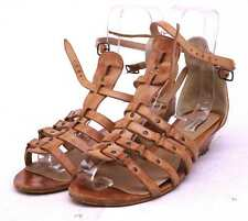 Dune Womens EU Size 40 Brown Leather Gladiator Sandals